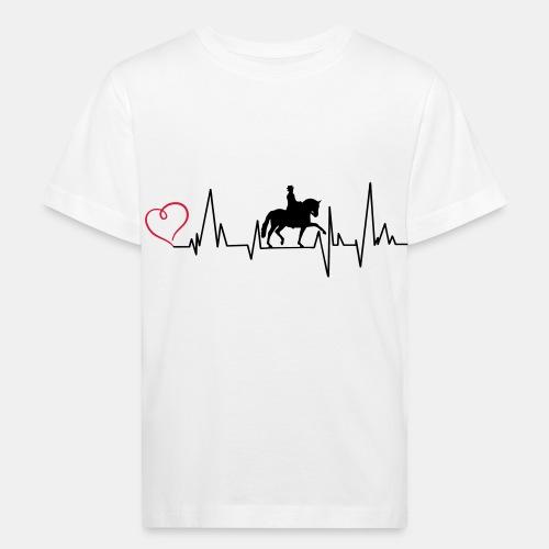 Heartbeat Dressurreiterin klassisch Herz - Kinder Bio-T-Shirt