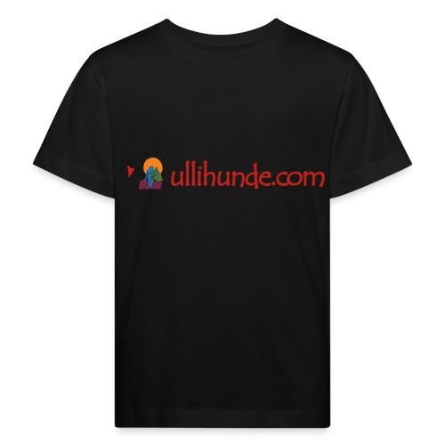 Ullihunde Schriftzug mit Logo - Kinder Bio-T-Shirt