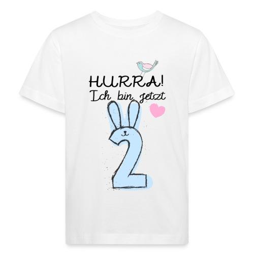 Hurra ich bin jetzt 2 / Geschenk zum 2. Geburtstag - Kinder Bio-T-Shirt