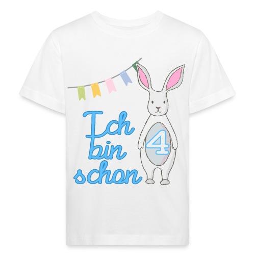 Ich bin schon 4 / Geschenk zum 4. Geburtstag. - Kinder Bio-T-Shirt