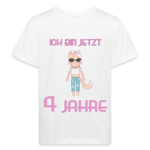 Ich bin jetzt 4 Jahre / Geschenk zum 4. Geburtstag - Kinder Bio-T-Shirt