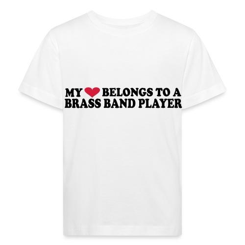MY HEART BELONGS TO A BRASS BAND PLAYER - Økologisk T-skjorte for barn