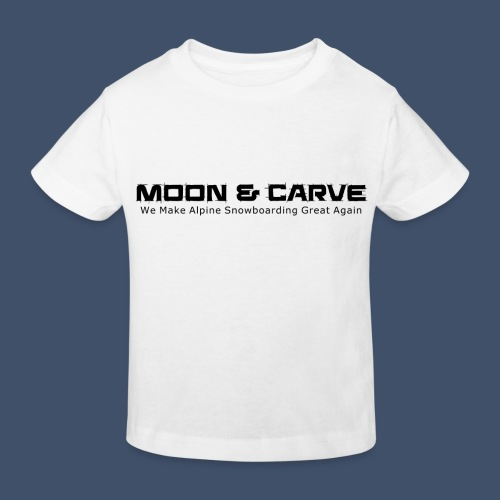 Moon & Carve black - Kinder Bio-T-Shirt