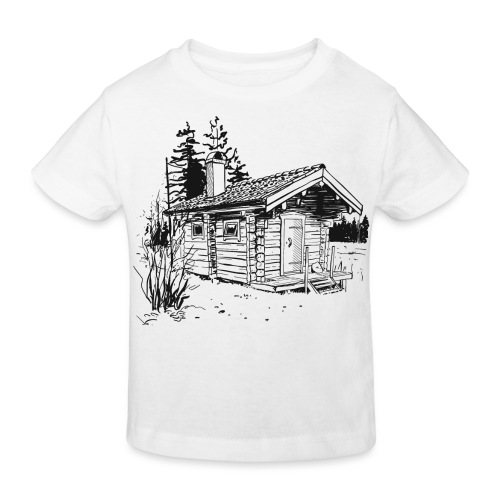 The sauna is my happy place - Kids' Organic T-Shirt