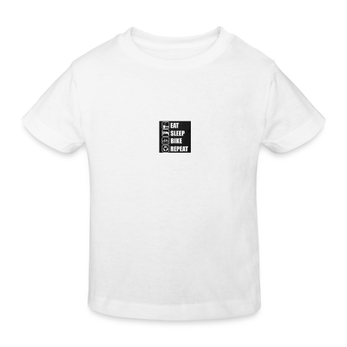 eat sleep bike repeat - T-shirt bio Enfant