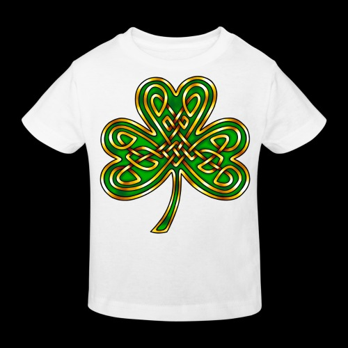 Celtic Knotwork Shamrock - Kids' Organic T-Shirt