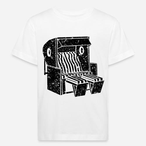 Strandkorb Illustration von Clarissa Schwarz - Kinder Bio-T-Shirt