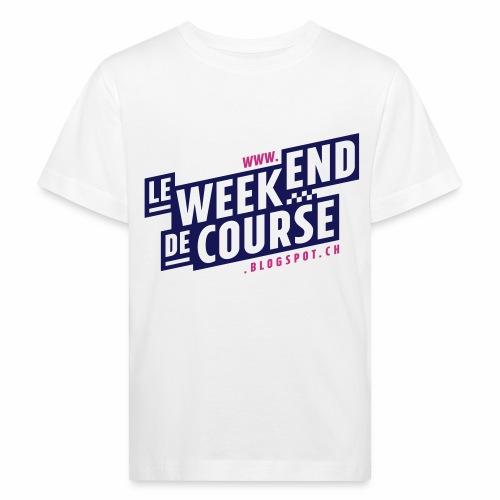 le week-end de course - Logo - Vert - T-shirt bio Enfant