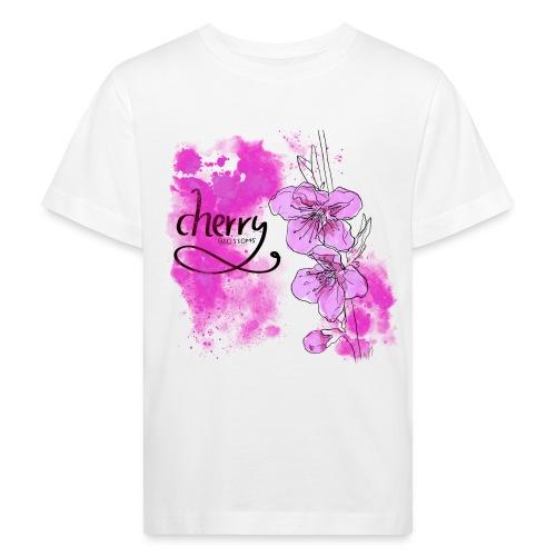 Kirschblüten Zweig - Kinder Bio-T-Shirt