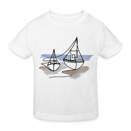 Fiskerbåde 3 - Organic børne shirt