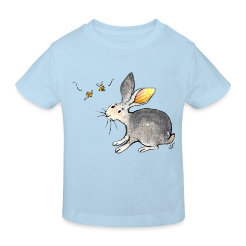 Der kleine Hase schaut sich um. - Kinder Bio-T-Shirt