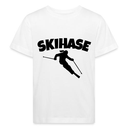 Skihase Ski Skifahrerin Wintersport - Kinder Bio-T-Shirt