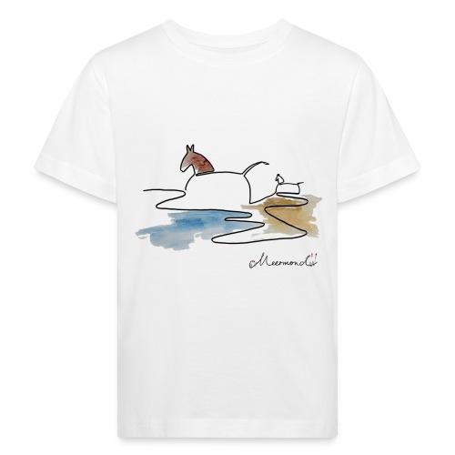 Blåvand 3 - logo - Organic børne shirt