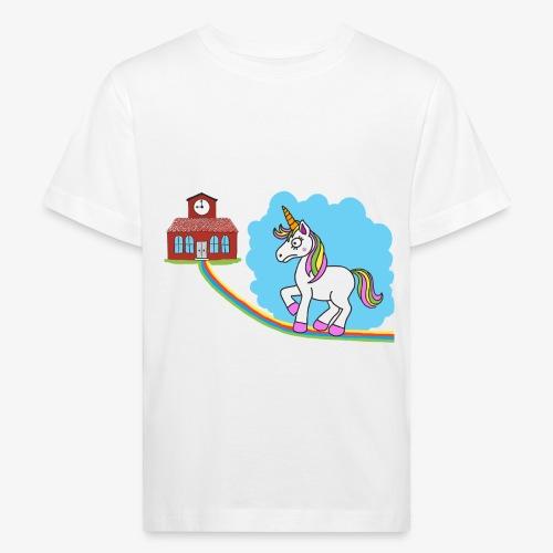 Unicorn goes also to school - T-shirt bio Enfant