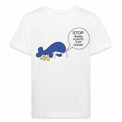 Whale against plastic - Ekologisk T-shirt barn