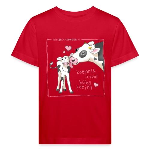 baby shirt lichtroze en w - Kinderen Bio-T-shirt