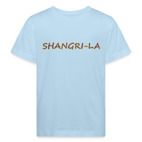 Shangri La goldblau - Kinder Bio-T-Shirt