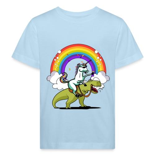 Unicorn Riding Ninja - Lasten luonnonmukainen t-paita