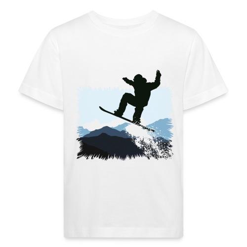 Snowboarder Action Jump | Apresski Shirt gestalten - Kinder Bio-T-Shirt