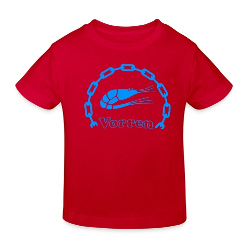 Vorren Logo CLASSIC [Blue] - Ekologisk T-shirt barn