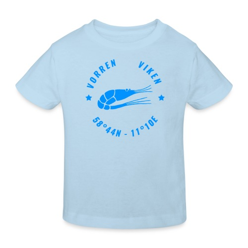 Vorren Logo MODERN [Blue] - Ekologisk T-shirt barn