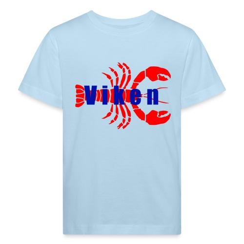 Vorren Logo HUMMERSÄSONG (Röd/Blå) - Ekologisk T-shirt barn