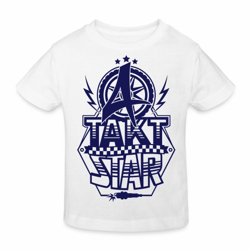 4-Takt-Star / Viertakt-Star - Kids' Organic T-Shirt