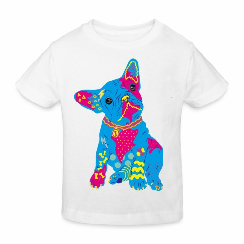 French bulldog from the 80s - Kids' Organic T-Shirt