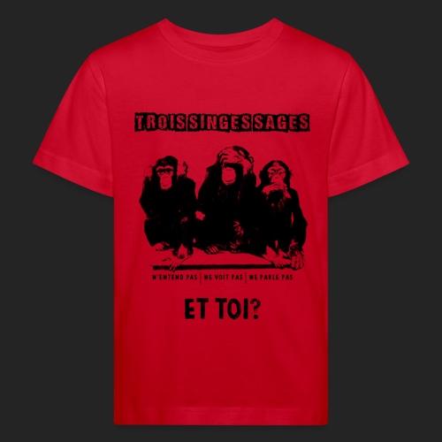 Three wise monkeys - T-shirt bio Enfant