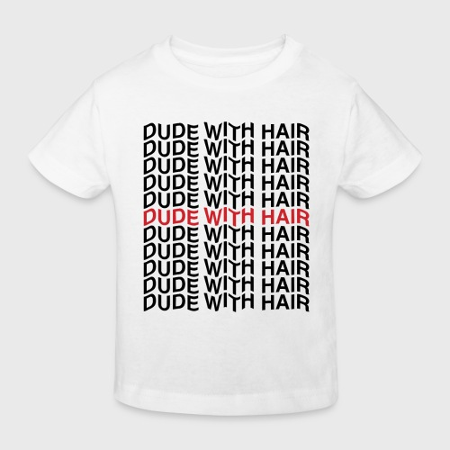 Dude With Hair Red Wave - Kinderen Bio-T-shirt