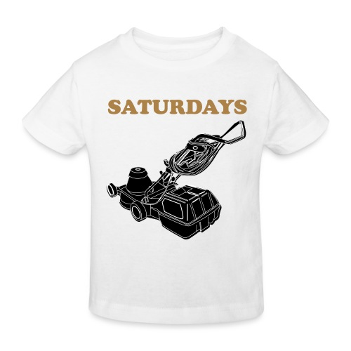 Saturdays Lawnmower - Kids' Organic T-Shirt