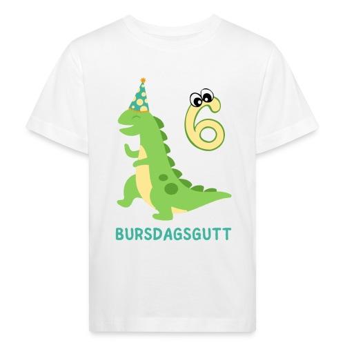 bursdagsgutt 6 år - Økologisk T-skjorte for barn