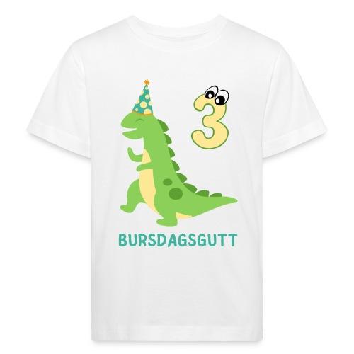 bursdagsgutt 3 år - Økologisk T-skjorte for barn