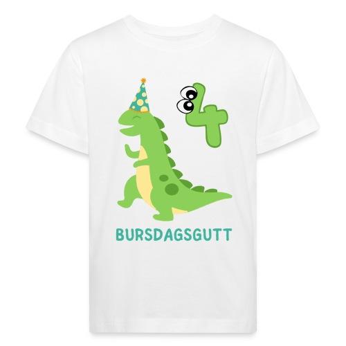 bursdagsgutt 4 år - Økologisk T-skjorte for barn