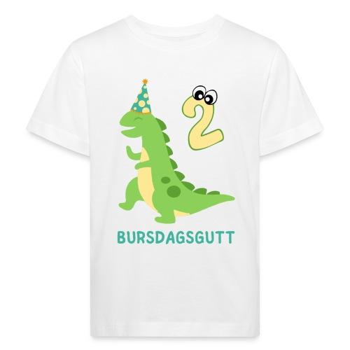 bursdagsgutt 2 år - Økologisk T-skjorte for barn
