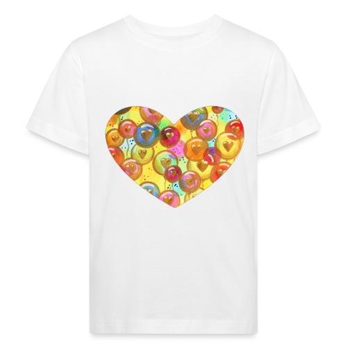 Regenbogen LiebesLuftballons Sonja Ariel vonStaden - Kinder Bio-T-Shirt