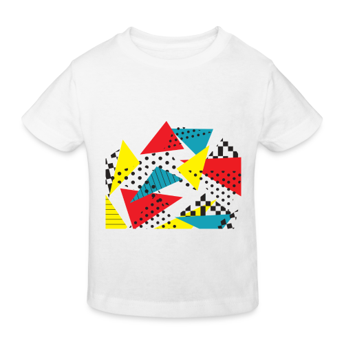 Abstract vintage collage - Kids' Organic T-Shirt