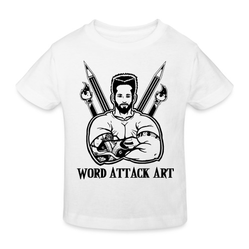 Word Attack Art - Kinder Bio-T-Shirt