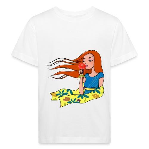 La femme et la fleur - T-shirt bio Enfant