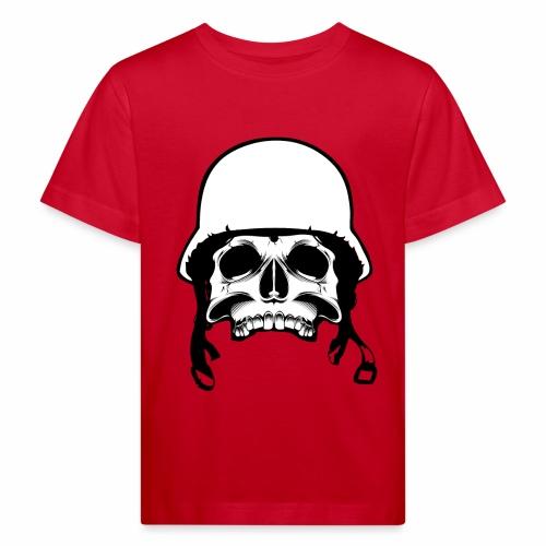 Soldier Helmet Skull 2c - Kids' Organic T-Shirt