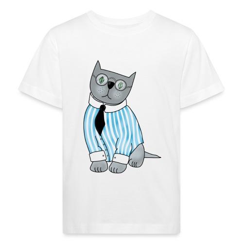 Cat with glasses - Kids' Organic T-Shirt