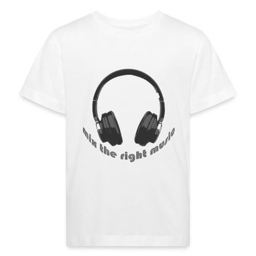 DJ Mix the right music, headphone - Kinderen Bio-T-shirt
