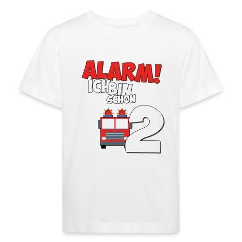 Feuerwehrauto 2. Geburtstag Jungen 2 Jahre - Kinder Bio-T-Shirt