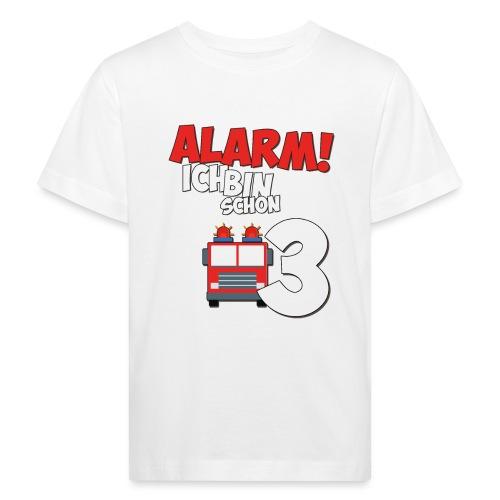 Feuerwehrauto 3. Geburtstag Jungen 3 Jahre - Kinder Bio-T-Shirt