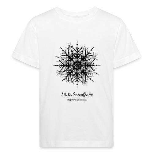Schneeflocke Weihnachten Liebe Geschenk Kinder - Kinder Bio-T-Shirt