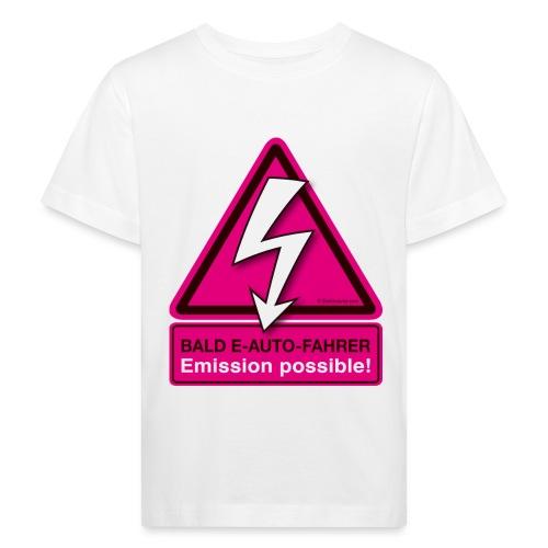 Bald E-AUTO-Fahrer - Emission possible - Kinder Bio-T-Shirt