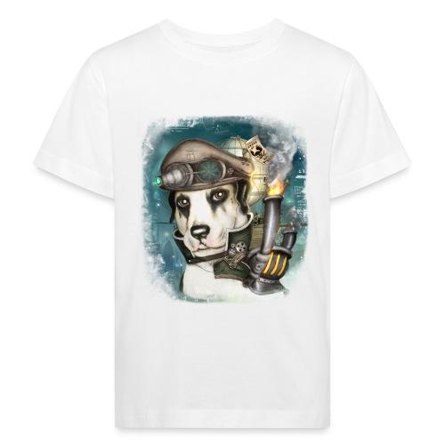 Steampunk Dog #2b - Maglietta ecologica per bambini