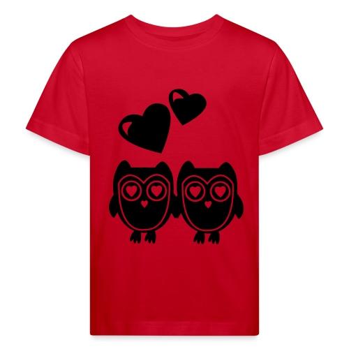 verliebte Eulen - Kinder Bio-T-Shirt