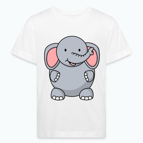 Ellie Elephant - Appelsin - Ekologisk T-shirt barn