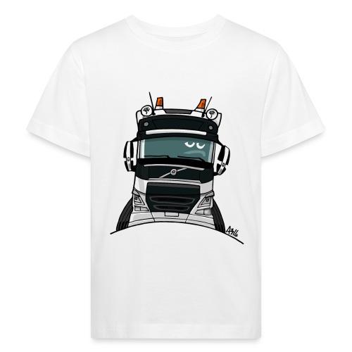0488 V truck wit - Kinderen Bio-T-shirt